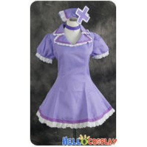 Vocaloid 2 Cosplay Luka Megurine Nurse Purple Dress Costume