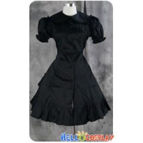Gothic Lolita Dress Cosplay Costume Black