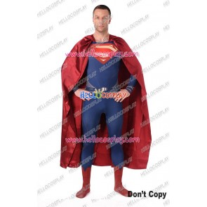 Superman Clark Kent Cosplay Costume Jumpsuit