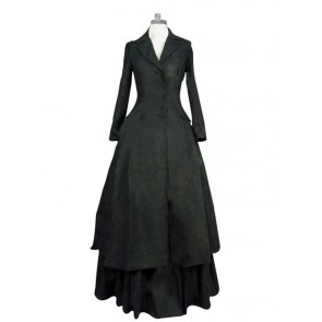 Victorian Lolita Edwardian Coat Jacket Punk Lolita Dress Black