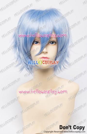 Wig 30CM Cosplay Sky Blue Universal Short Layered