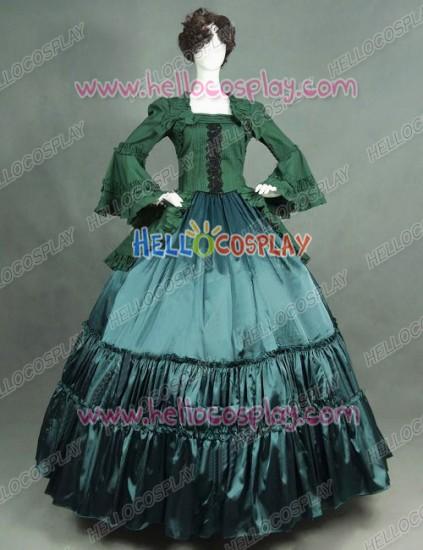 Victorian Lolita Reenactment Theatre Punk Lolita Dress Olive