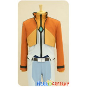 Mobile Suit Gundam 00 Cosplay Allelujah Haptism Orange Uniform Costume