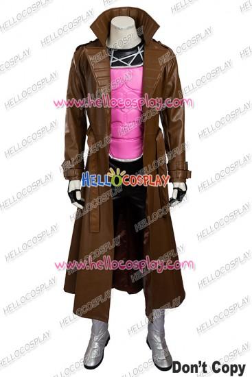 X Men Gambit Remy LeBeau Cosplay Costume Uniform