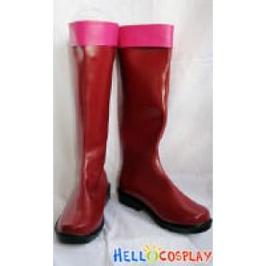 Tegami Bachi Sylvette Suede Cosplay Boots