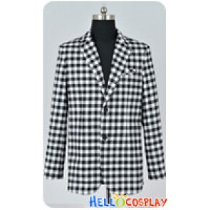 Fallout New Vegas Cosplay Benny Black White Plaid Jacket Costume