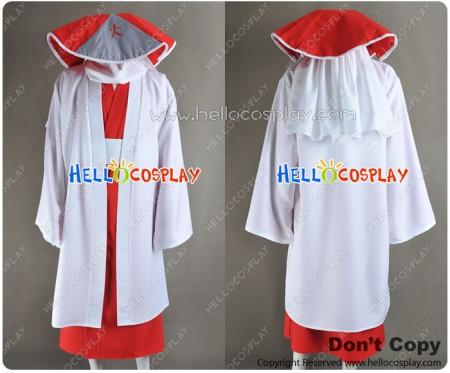 Naruto Cosplay Sarutobi Hiruzen Red White Costume