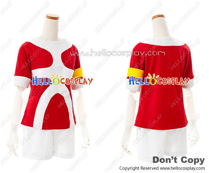 3f4f9ca3a0a Inazuma Eleven Go 2 Cosplay Tenma Matsukaze Costume Red Uniform