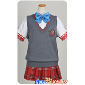 Daitoshokan No Hitsujikai Cosplay Gray Vest Uniform Costume