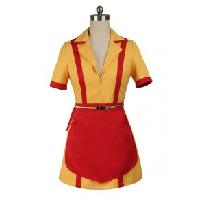 2 Broke Girls Caroline Wesbox Channing Cosplay Costume