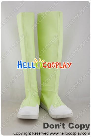 Digimon Cosplay Inoue Miyako Light Green Boots