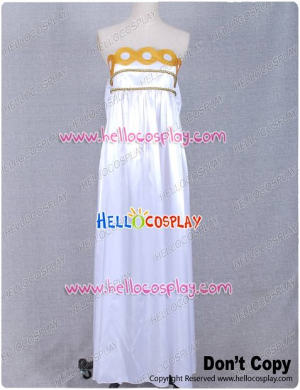 Sailor Moon Princess Serenity White Dress Gown Costume