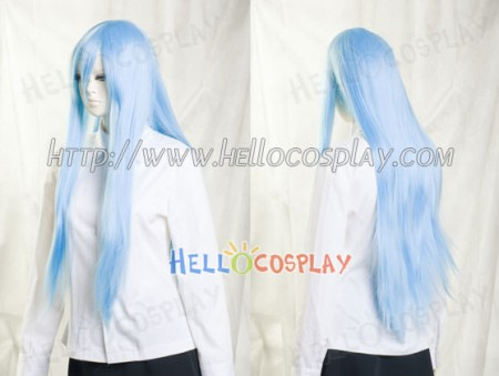 Deep Sky Blue Medium Cosplay Straight Wig