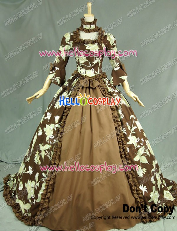 Renaissance Victorian Ball Gown Reenactment Stage Floral Lolita ...