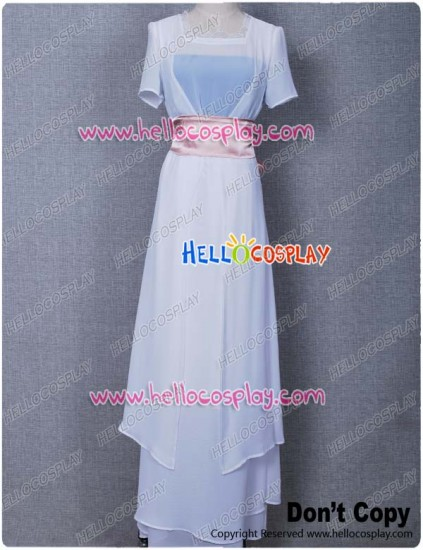 Titanic Rose White Dress Costume