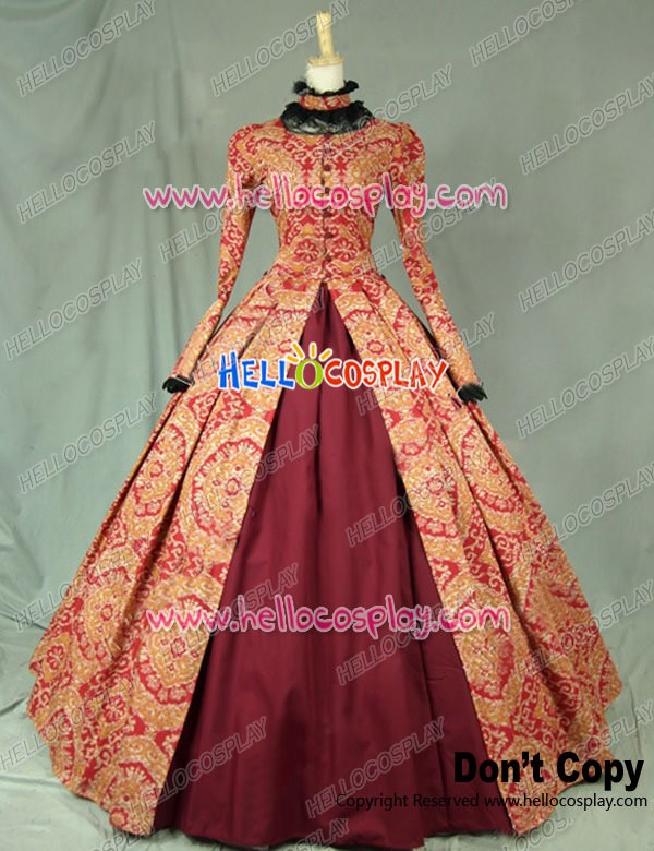Victorian Gothic Formal Ball Gown Reenactment Clothing Stage Lolita ...