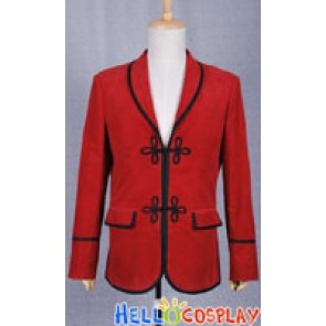 The 3rd Doctor Costume Red Jacket the Third Dr