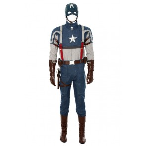 Captain America 1 Steve Rogers Cosplay Costume New