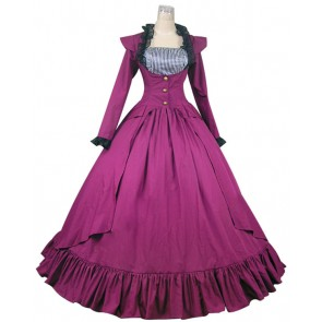 Gothic Victorian Cotton Jacket Dress Ball Gown Cosplay
