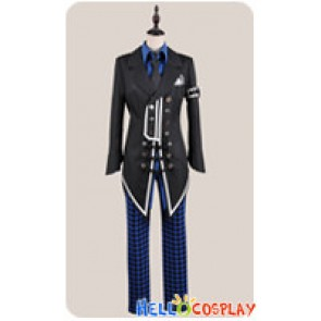 Amnesia Cosplay Ikki Buckles Costume Black Blue Uniform