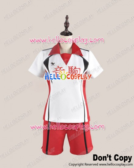 Haikyū Cosplay Volleyball Juvenile Sports Uniform Costume Without Number Ver