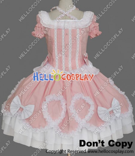 Gothic Lolita Punk Gorgeous Pink Cute Dress