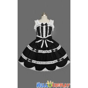 Sweet Lolita Gothic Punk Jumper Skirt Classic Dress