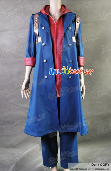 Devil May Cry 4 DMC Cosplay Costume Nero Coat Leather