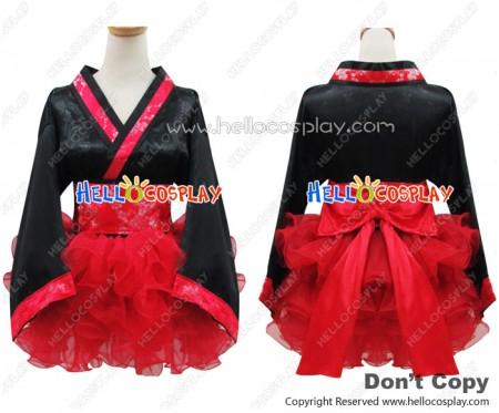 Angel Feather Cosplay Cherry Kimono Dress Costume