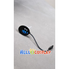 Vocaloid Cosplay Kaito Black Blue Headphone With Mp3