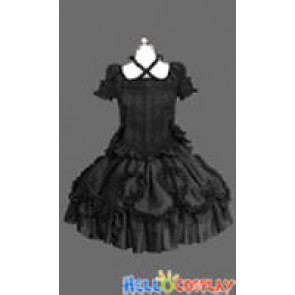 Gothic Lolita Punk Victorian Black Dress