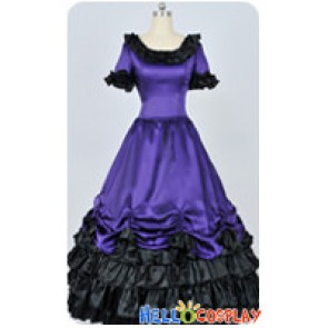 Civil War Southern Belle Ball Gown Violet Prom Lolita Dress