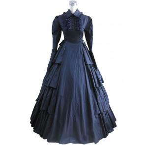 Victorian Lolita Vintage Party Gothic Lolita Dress Dark Blue