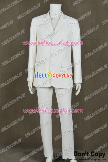 The Great Gatsby 2013 Jay Gatsby Cosplay Costume White Suit