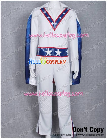 Motorcycle Daredevil Evel Knievel Cosplay Costume Cape Blue