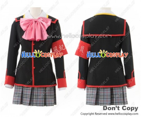 Little Busters Cosplay Rin Natsume School Girl Uniform Costume