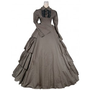 Victorian Gothic Lolita Cotton Dress Ball Gown Prom Cosplay