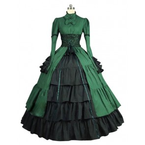Victorian Lolita Steampunk Corset Gothic Lolita Dress Olive