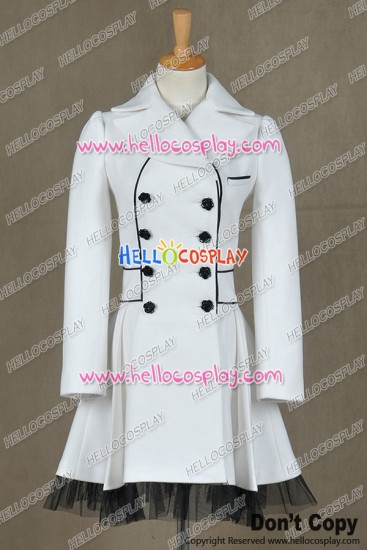 RWBY Season 2 Weiss Schnee White Trailer Cosplay Costume Coat