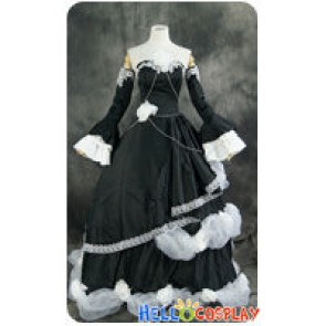 Vocaloid 2 Cosplay Kagamine Rin Black Formal Dress Cendrillon Costume