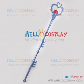 Sailor Moon Cosplay Sailor Pluto Setsuna Meioh Pomegranate Stick Prop