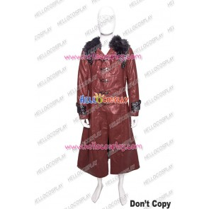 Kamen Rider Heart Cosplay Costume Red Leather Coat