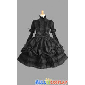 Victorian Gothic Punk Black Lolita Dress