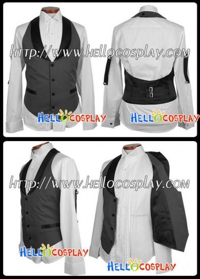 Black Butler Kuroshitsuji Sebastian Michaelis Cosplay Costume