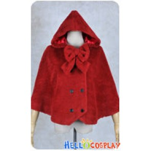 Vocaloid 2 Cosplay Gumi Little Red Riding Hood Costume Cloak