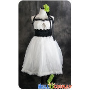 Vocaloid 2 Cosplay Megpoid Gumi White Dress Costume