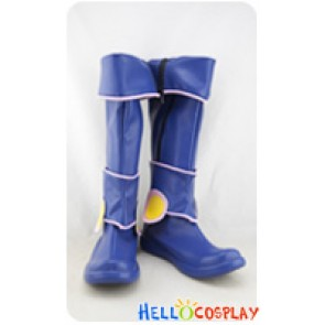 Yu Gi Oh Cosplay Shoes Dark Magician Girl Blue Boots
