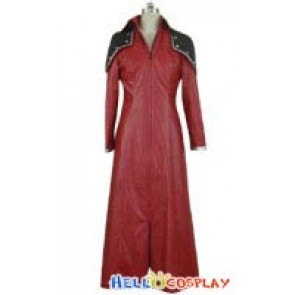 Final Fantasy Genesis Cosplay Costume Red Overcoat