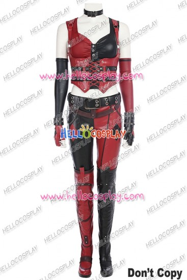 Batman Arkham Knight Harley Quinn Cosplay Costume Full Set Uniform
