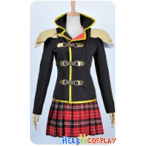 Final Fantasy Type 0 Cosplay Whip Wielder Seven Sebun Costume